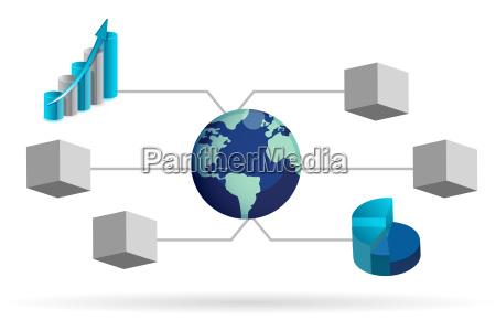box, diagram, illustration, design, over, white - 10165673