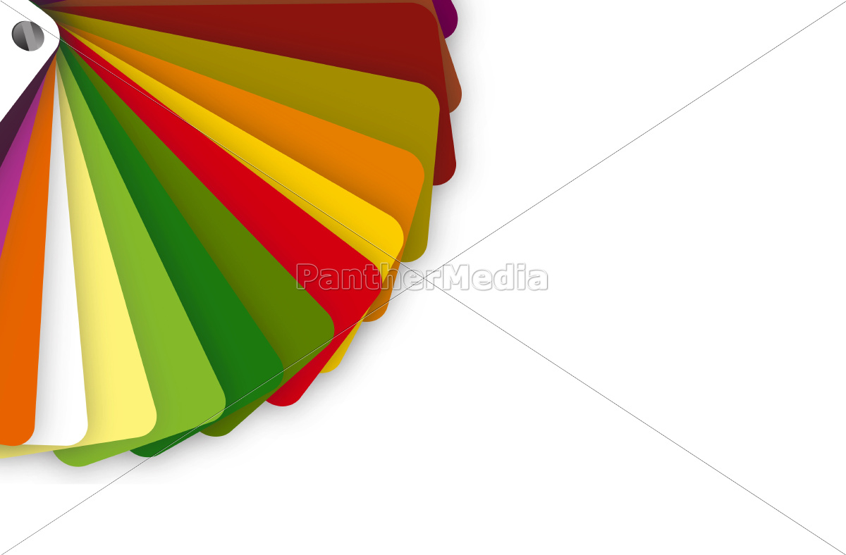 colorful, color, guide, on, white, background - 10165705