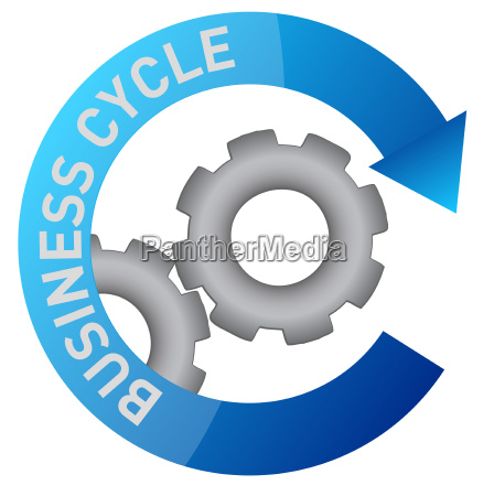 business gear cycle illustration design over