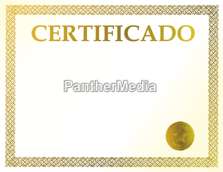 spanish blank certificate ready to be