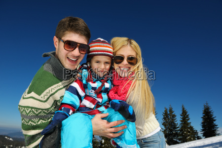 family, having, fun, on, fresh, snow - 10168561