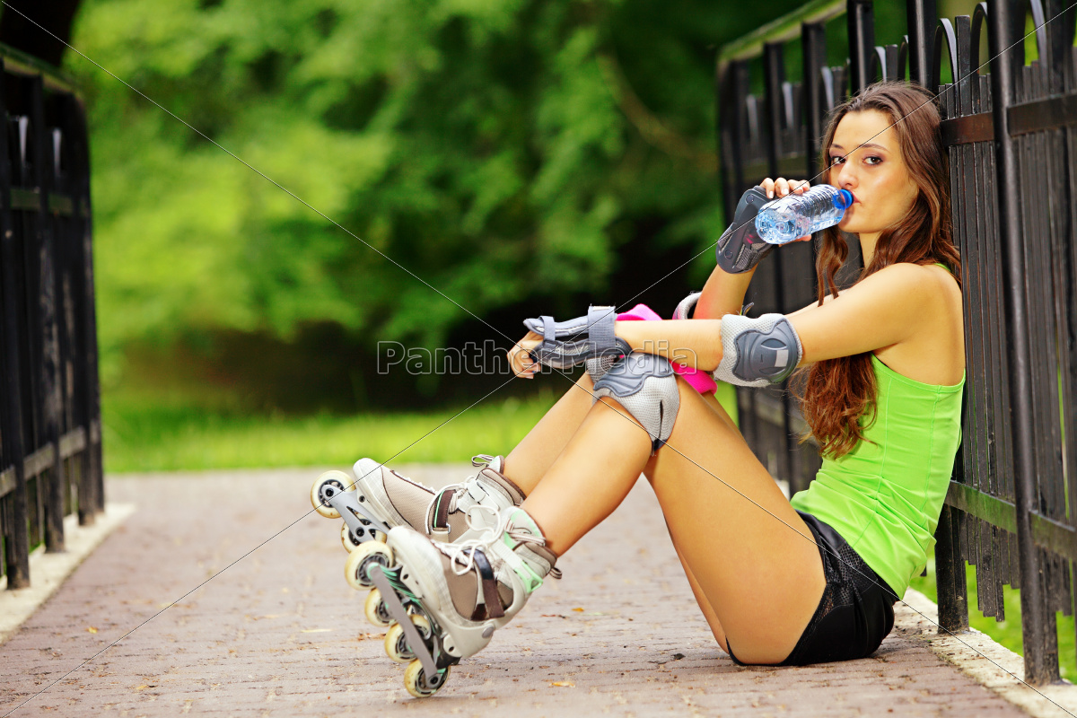 woman, roller, skating, sport, activity, in - 10171603