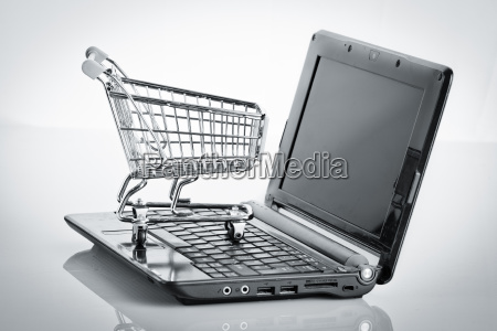 online, shopping., shopping, cart, with, notebook - 10172903