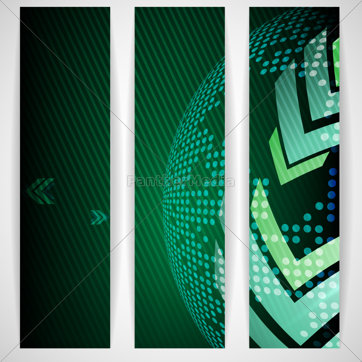 arrow, green, background, with, place, for - 10175587
