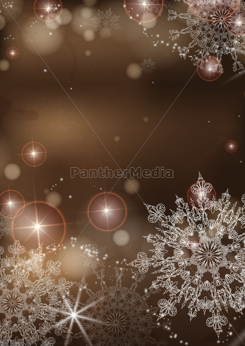 brown, background, with, snowflakes. - 10175601
