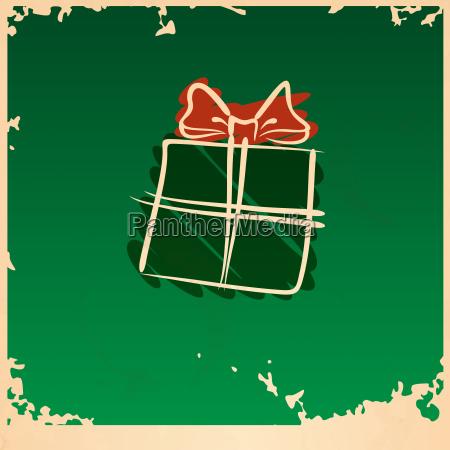 christmas, vintage, gift, box. - 10175621