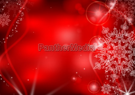 red, background, with, snowflakes. - 10175597