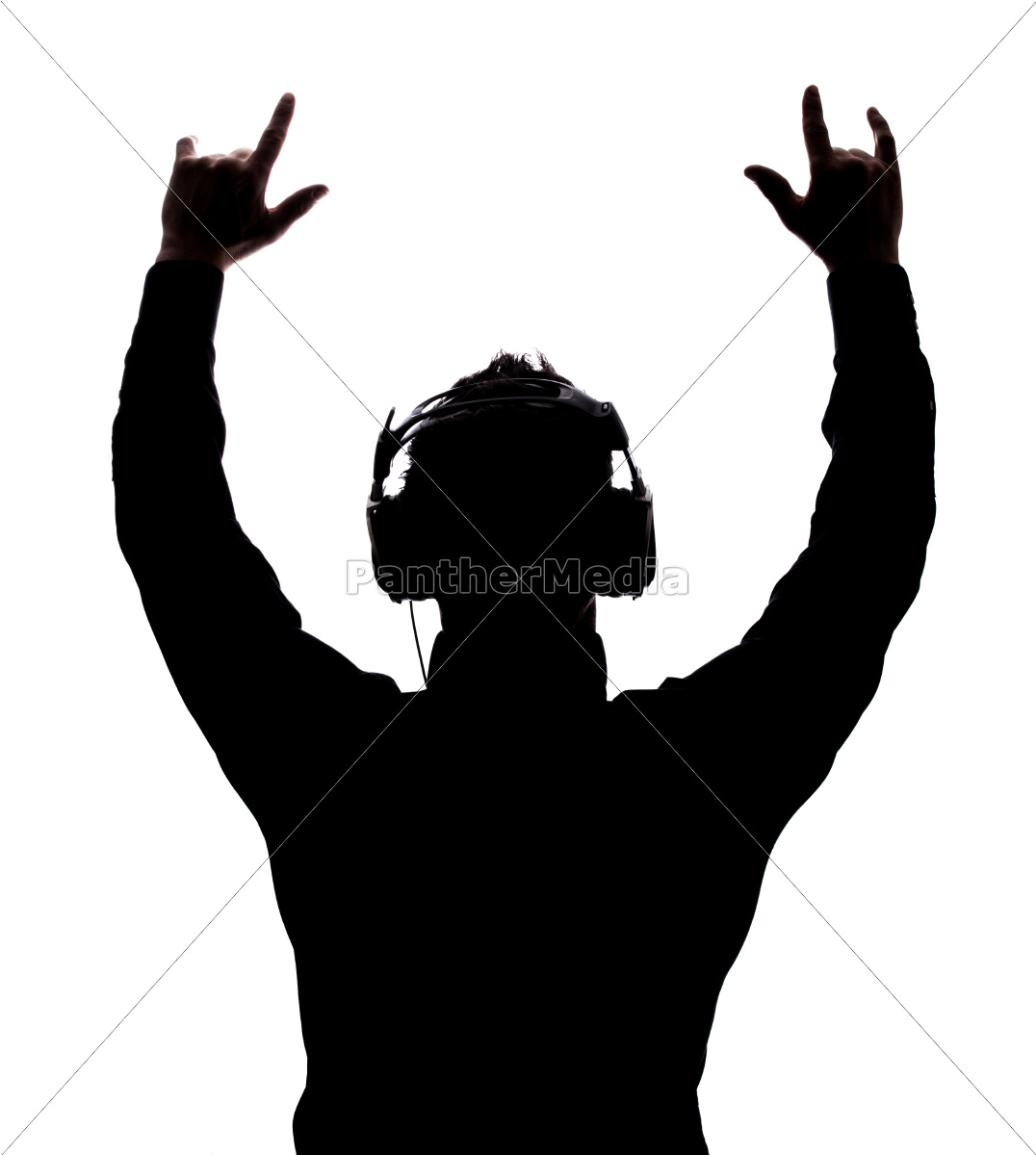 man, rocking, on, with, headphones - 10183913