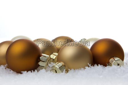 weihnachten weihnachtskugeln creme und beige