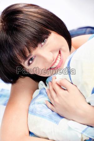 cute, girl, on, pillow - 10186853