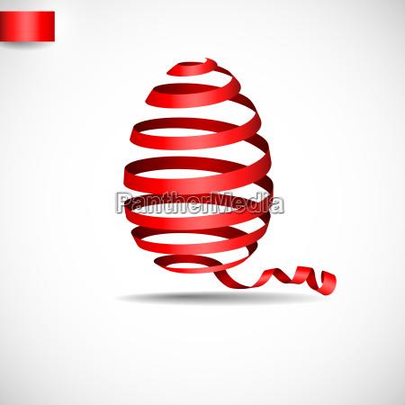 easter, ribbon, egg. - 10186511