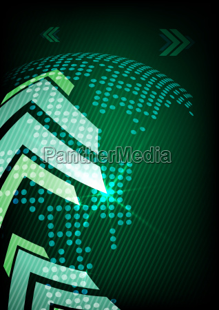 arrow, green, background, with, place, for - 10187099