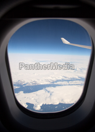 flight over greenland