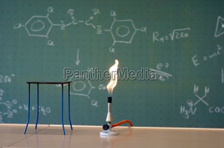 bunsen burner in a laboratory