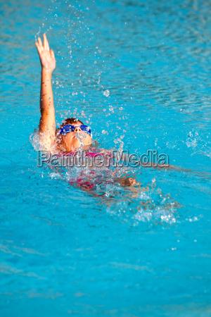 girl in backstroke