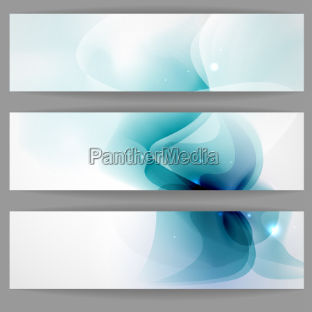 abstract banner in blue color