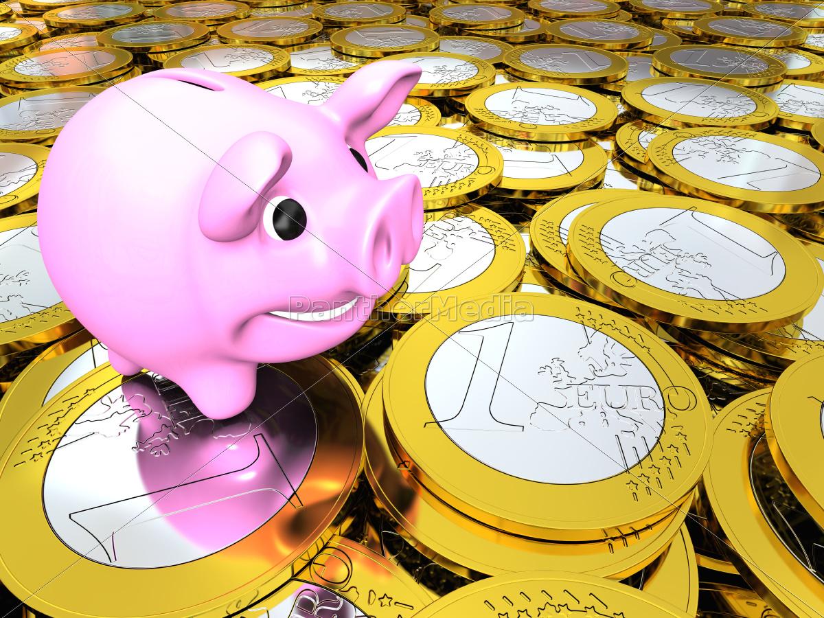 piggy, bank, on, money - 10197861
