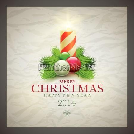 retro, christmas, card - 10199165