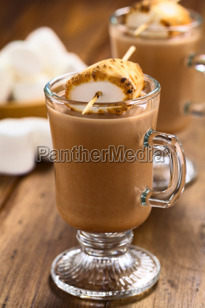 hot chocolate with toasted marshmallow