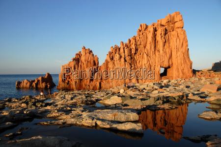 red cliff of arbatax in sardinia
