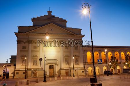 st anne church at dawn in