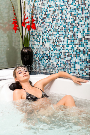 young attractive woman relaxing in the