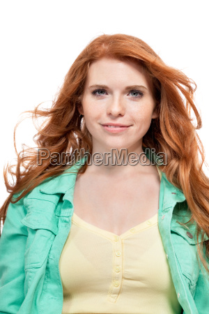 young expressive attractive woman portrait isolated