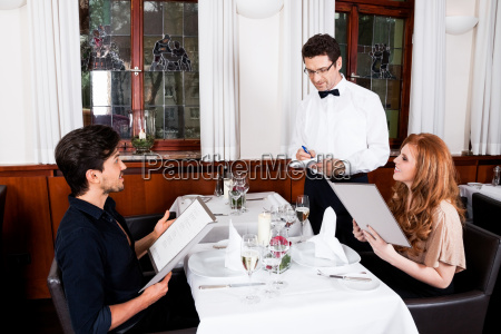 woman, and, man, having, dinner, in - 10207895