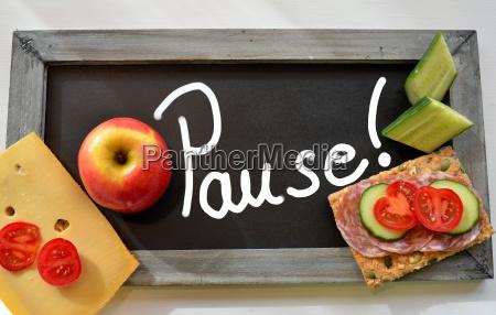 pause blackboard school breakfast