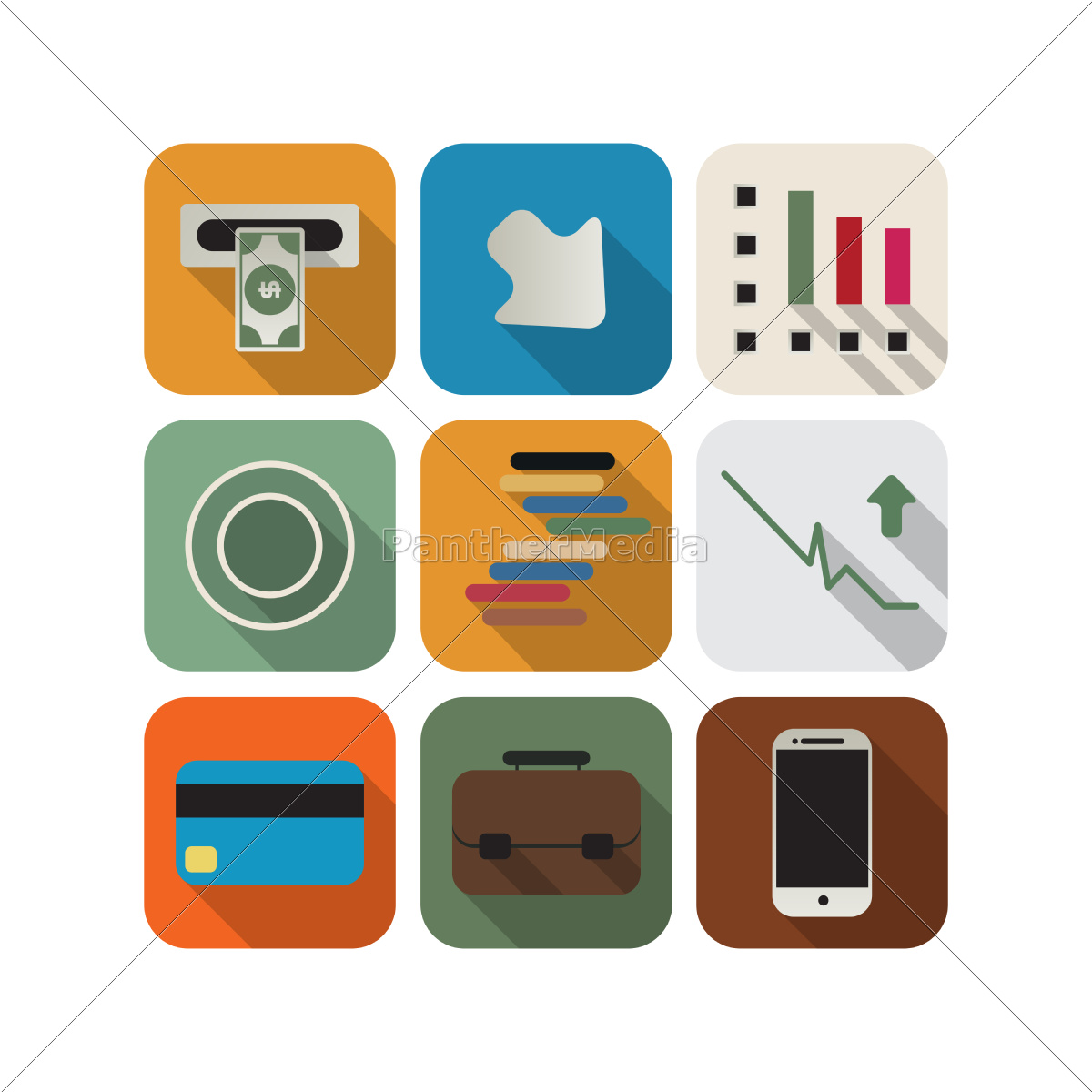 business, icon, set - 10212393