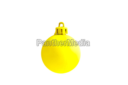 christmas ball exposed on white background