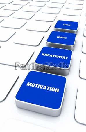 pad concept blue motivation creativity