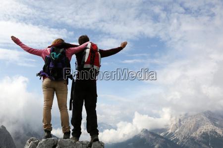 climber on a mountain top