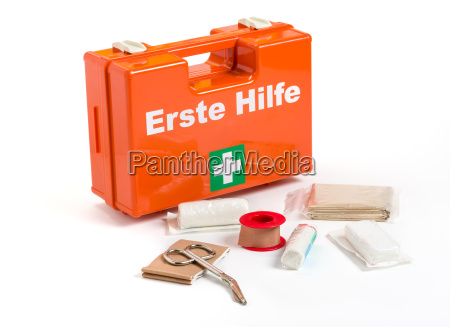 first aid kit with bandages