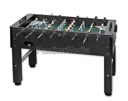 table soccer soccer ball isolated