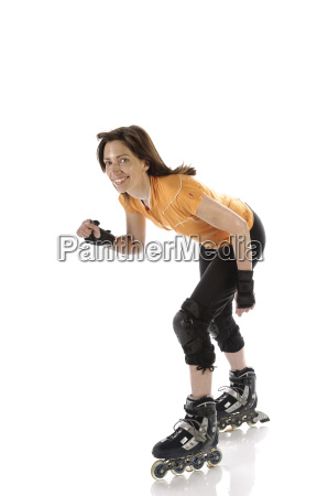 adult woman driving inline skates