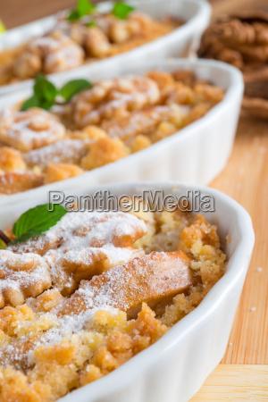 apple walnut sprinkles cake