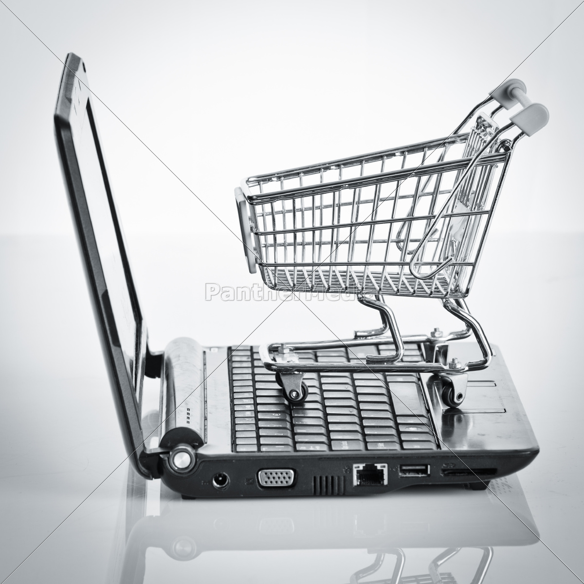 online, shopping., shopping, cart, with, notebook - 10220689