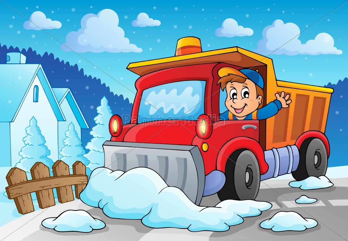 snow, plough, theme, image, 2 - 10221517