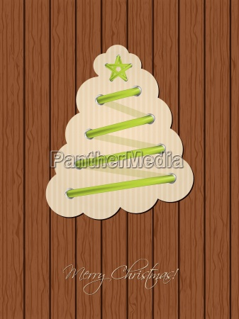 christmas greeting with shoe lace tree