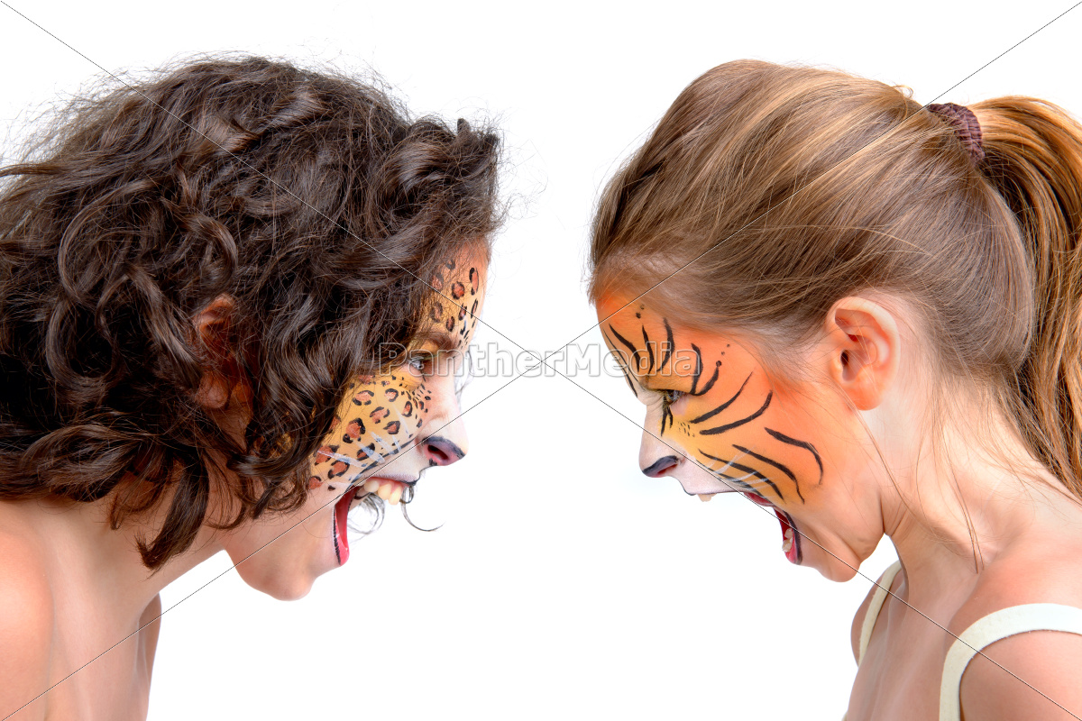 face, painting, , felines - 10222007