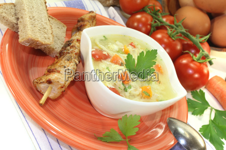 chicken soup with egg