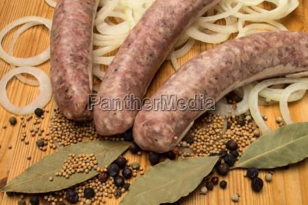 ingredients for sour bratwurst
