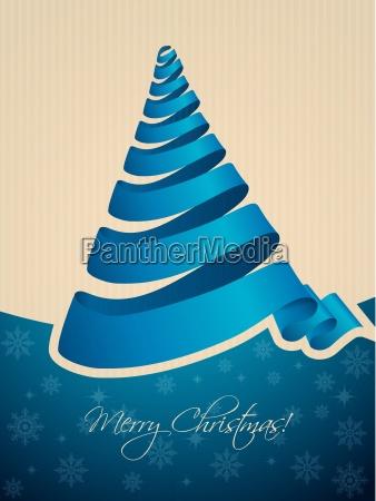 christmas tree shaped ribbon background