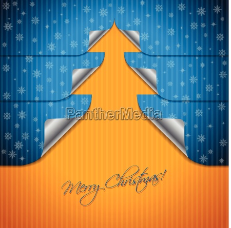 greeting card design with bent stickers