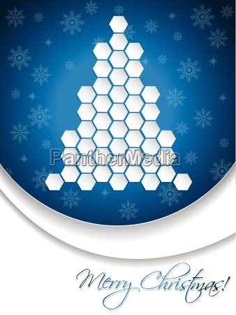 blue christmas greeting card design with