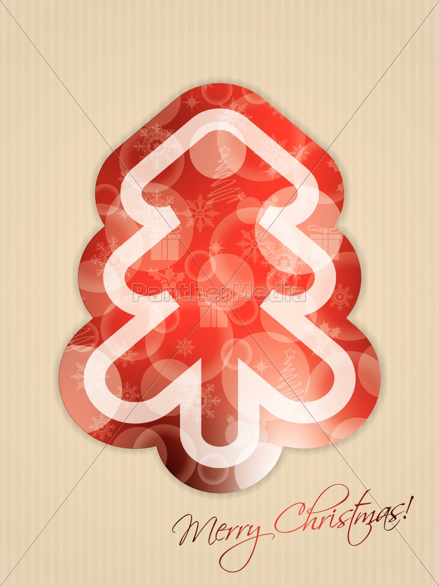 simple, greeting, with, abstract, christmas, tree - 10232681