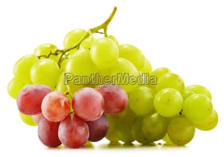 bunch, of, fresh, grapes, isolated, on - 10244519