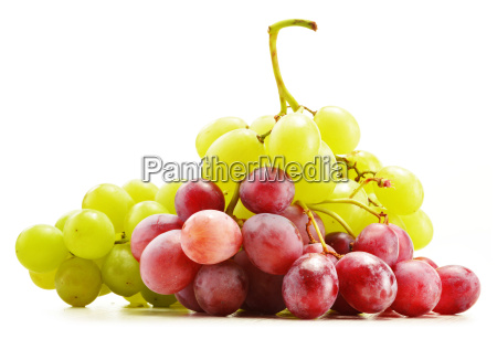 bunch, of, fresh, grapes, isolated, on - 10244521
