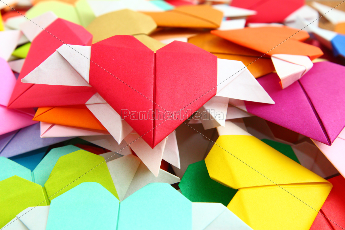 heap, of, origami, colorful, heart - 10250063